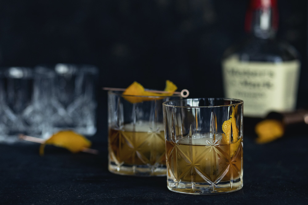 Old Fashioneds in Crystal Cut Tumblers