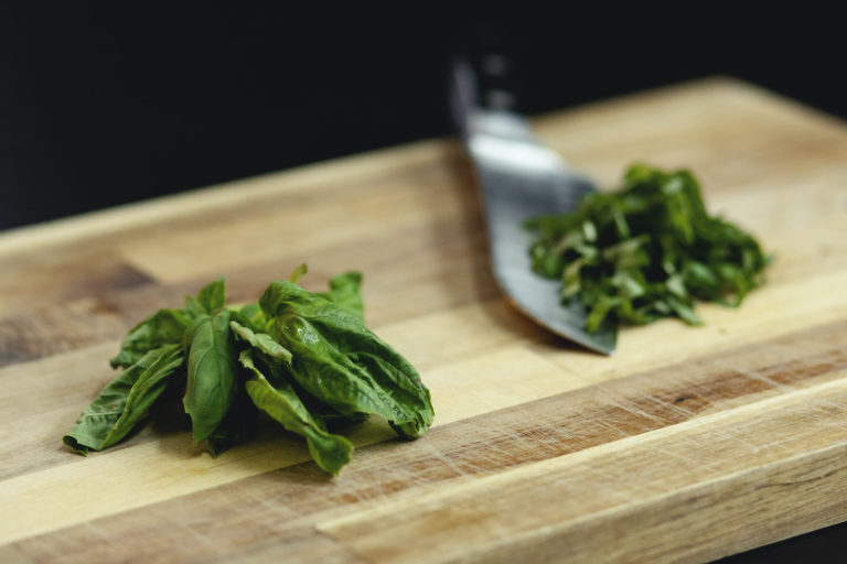How to Chiffonade fresh basil