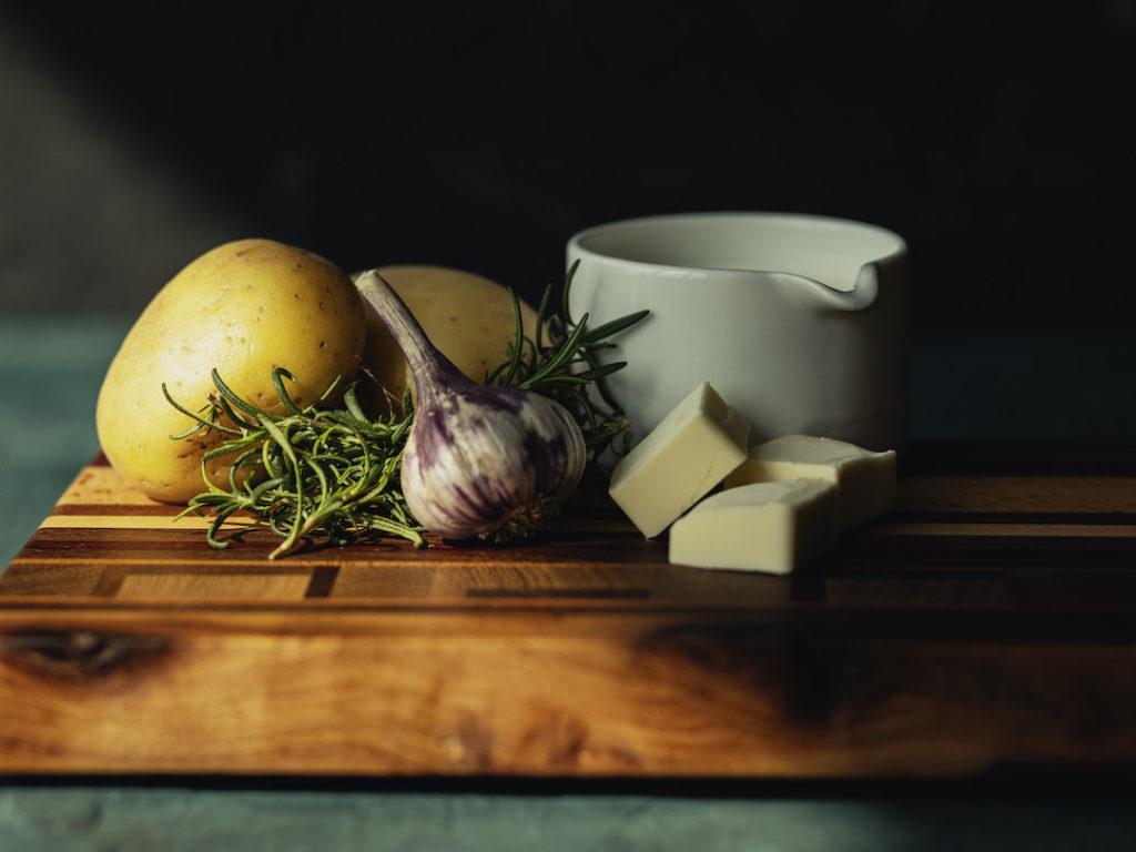 Roasted Garlic Rosemary Mashed Potato Ingredients